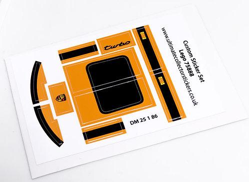 Lego MOC Sticker Sheet for Orange Speed Champions Porsche 911 (75888