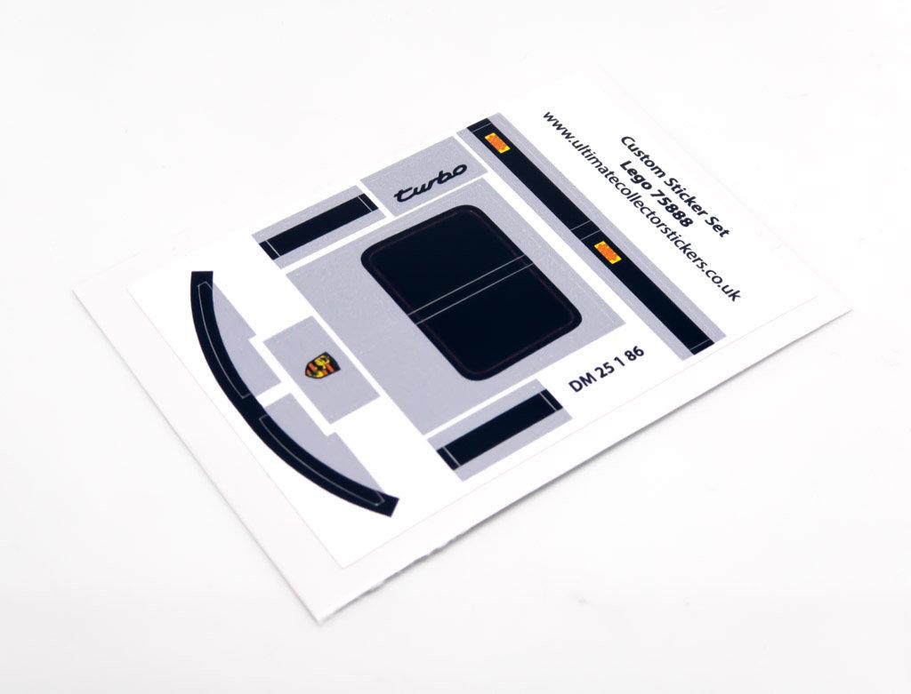 Lego Moc Sticker Sheet For Light Grey Speed Champions Porsche 911 75888
