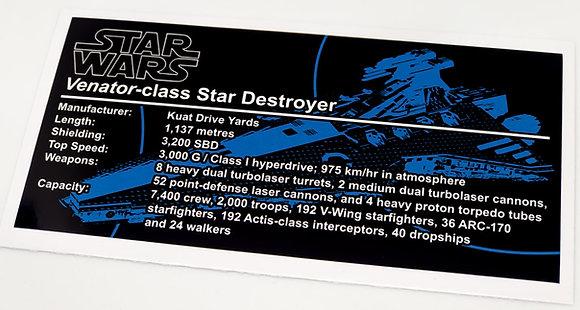 Lego Star Wars UCS / MOC Sticker for Venator Class Star Destroyer