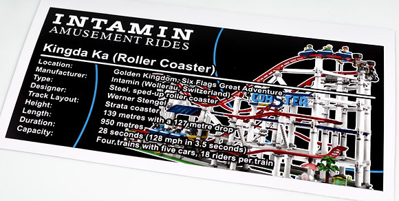 Lego Creator UCS Sticker for the Roller Coaster 10261