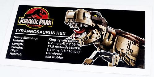 Lego Creator UCS Sticker for Jurassic Park T-Rex Rampage 75936