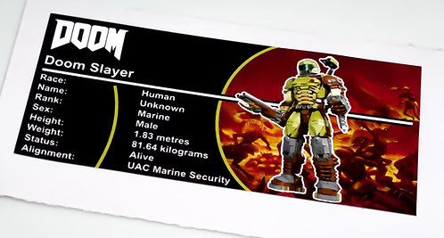 Lego Figure Sticker for Doom Slayer (Brick Vault)
