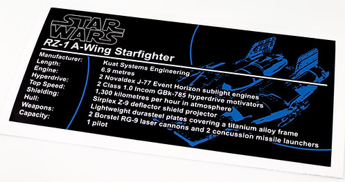 Lego Star Wars UCS Sticker for A-wing Starfighter 75275