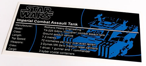 Lego Star Wars UCS Sticker for Imperial Assault Hovertank 75152
