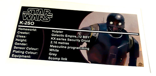 Lego Star Wars Buildable Figure Sticker for K-2SO (75120)