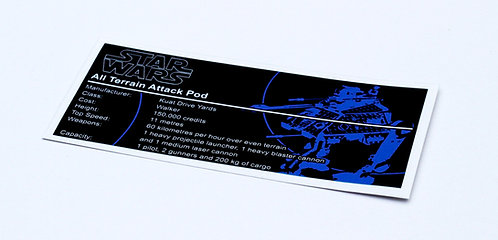 Lego Star Wars UCS / MOC Sticker for AT-AP (75043 / 75234)