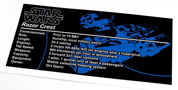 Lego Star Wars UCS / MOC Sticker for The Razor Crest 75292
