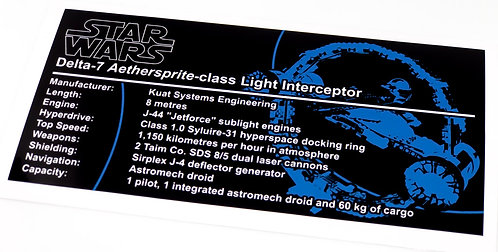Lego Star Wars UCS Sticker for Obi-Wan's Jedi Starfighter (75191)