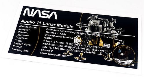 Lego Creator UCS Sticker for NASA Apollo 11 Lunar Lander 10266