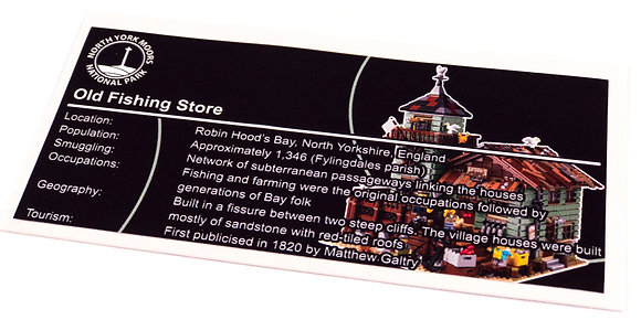 Lego Creator UCS Sticker for Old Fishing Store21310
