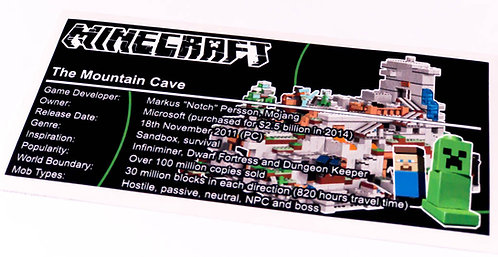 Lego Minecraft UCS / MOC Sticker for The Mountain Cave 21137