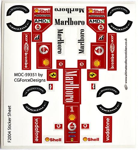 Lego Sticker Sheet for F1 Ferrari F2004 by LegoCG (MOC-59351)