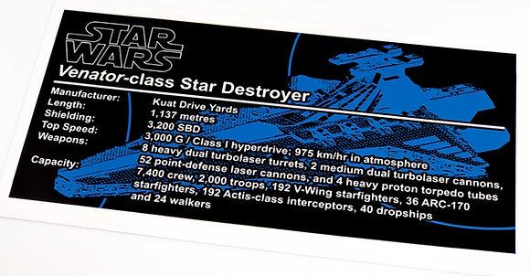 Lego Star Wars UCS / MOC Sticker for Venator (8039 / Anio ST04)