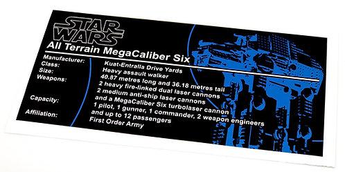 Lego Star Wars UCS Sticker for First Order Heavy Assault Walker 75189