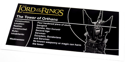 Lego The Lord of The Rings UCS Sticker for Tower of Orthanc 10237