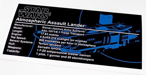 Lego Star Wars UCS Sticker for First Order Transporter (75103 / MOC-40489)