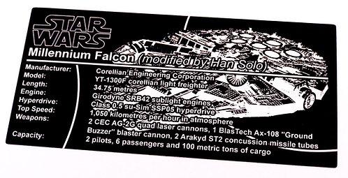 Lego Star Wars UCS Sticker for Millennium Falcon 75192 - Metallic