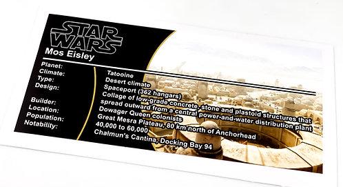 Lego Star Wars UCS / MOC Sticker for Mos Eisley (Tatooine, 75290)
