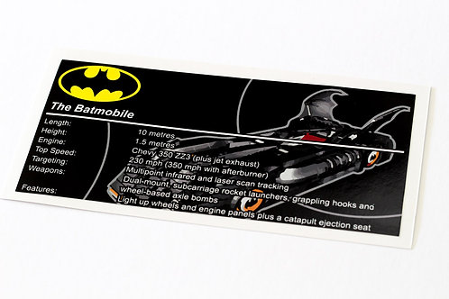 Lego Batman UCS Sticker for Batmobile 7784