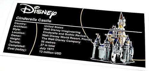 Lego Creator UCS Sticker for Disney Castle 71040
