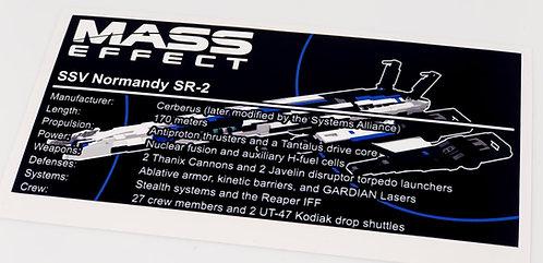 Lego Mass Effect UCS / MOC Sticker for Normandy SR-2 + Instructions