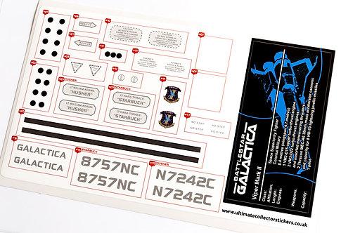 Lego Sticker Sheet for Battlestar Galactica Viper Mark II (version 2)