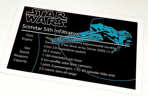 Lego Star Wars MOC Sticker for Sith Infiltrator Anio ST19