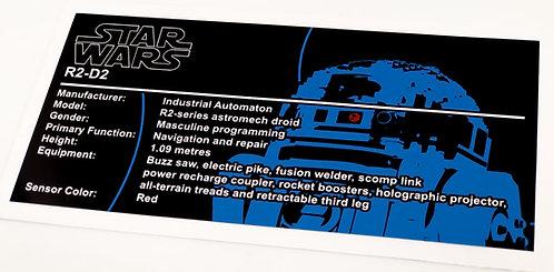 Lego Star Wars UCS Sticker for R2-D2 (10225, 75308)