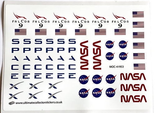Lego Sticker Sheet for Falcon 9 SpaceX Ultimate Edition (MOC-41953)