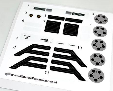 Lego Sticker Sheet for Lamborghini Countach (MOC-85018) - White