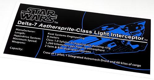 Lego Star Wars UCS Sticker for Obi-Wan's Jedi Starfighter (10215 / 75191)