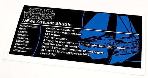 Lego Star Wars UCS / MOC Sticker for TIE Echelon (MOC-35928)
