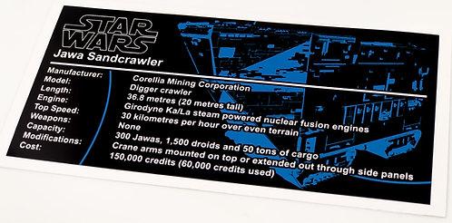Lego Star Wars UCS Sticker for Jawa Sand Crawler (Cavegod)