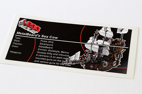 Lego Creator UCS Sticker for MetalBeard's Sea Cow 70810