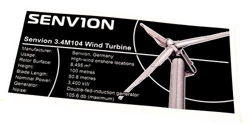 Lego Creator UCS / MOC Sticker for Wind Turbine