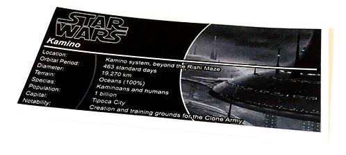 Lego Star Wars UCS / MOC Sticker for Planet Kamino