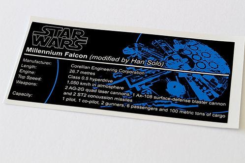 Lego Star Wars UCS Sticker for Millennium Falcon (7965 / 75105 / 10179)