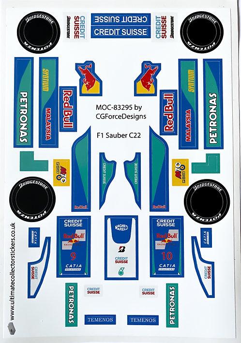 Lego Sticker Sheet for F1 Sauber C22 by LegoCG (MOC-83295)