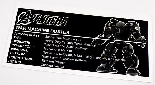 Avengers UCS / MOC Sticker for War Machine Buster