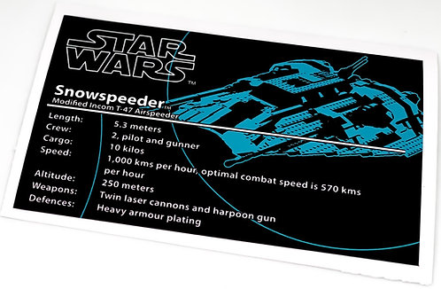 Lego Star Wars UCS Sticker for Rebel Snowspeeder 10129