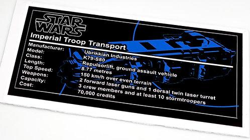 Lego Star Wars UCS / MOC Sticker for Imperial Troop Transport (MOC-38045)