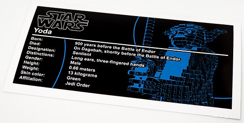 Lego Star Wars UCS Sticker for Yoda 75255