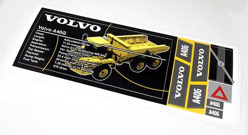 Lego Technic UCS / MOC Sticker for Volvo A40G (MOC-42577)