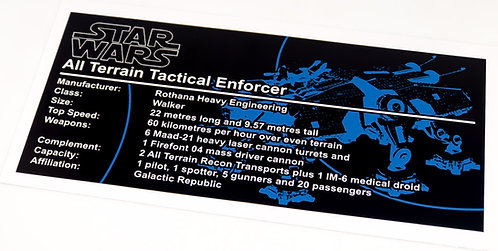 Lego Star Wars UCS / MOC Sticker for AT-TE (4482 / 7675 / 75019 / Anio ST02)