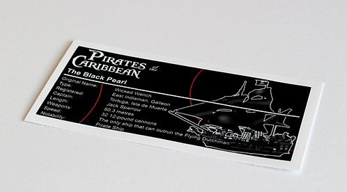 Lego Pirates of the Caribbean UCS Sticker for The Black Pearl 4184