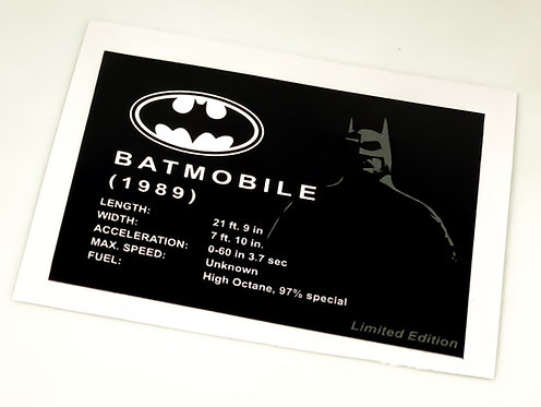 Lego Batman UCS Sticker for 1989 Batmobile Limited Edition 40433