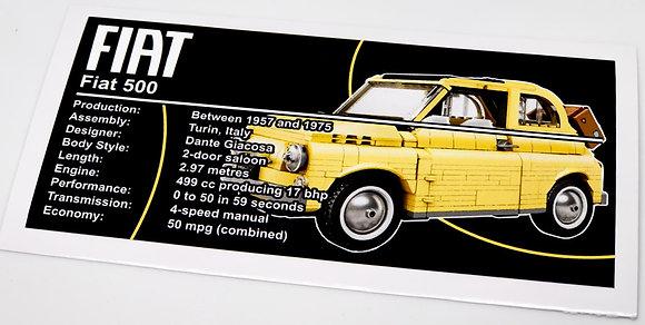Lego Creator UCS Sticker for Fiat 500 10271