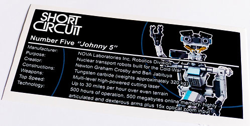 Lego Creator UCS / MOC Sticker for Johnny Five