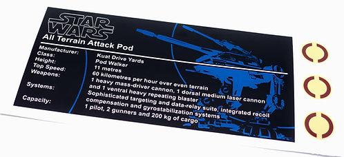 Lego Star Wars UCS / MOC Sticker for AT-AP Walker (Brick Vault)