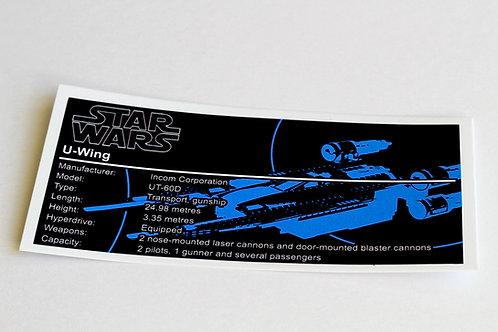 Lego Star Wars UCS / MOC Sticker for U-Wing 75155